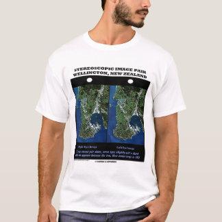 Stereoscopic Image Pair Wellington, New Zealand T-Shirt