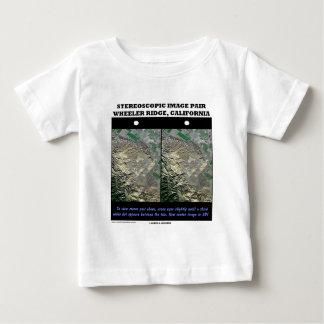 Stereoscopic Image Pair Wheeler Ridge California Baby T-Shirt