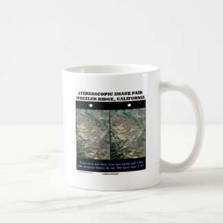 Stereoscopic Image Pair Wheeler Ridge California Coffee Mug