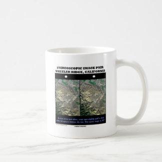 Stereoscopic Image Pair Wheeler Ridge California Coffee Mug