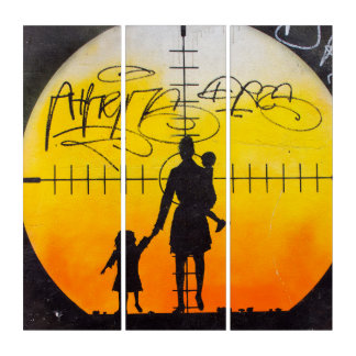 Stereotype Target Street Art Acrylic Triptych