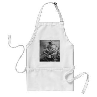Stereoview Christmas Tree Victorian 1800s Vintage Adult Apron