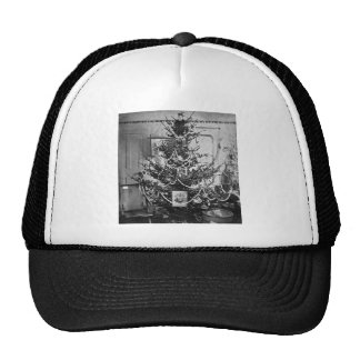 Stereoview Christmas Tree Victorian 1800s Vintage Trucker Hat