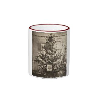 Stereoview Old Time Christmas Tree Coffee Mug