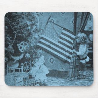 Stereoview - Patriotic  Christmas circa 1901 Mouse Pad