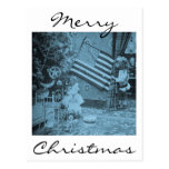 Stereoview - Patriotic  Christmas circa 1901 Post Card