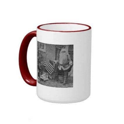 Stereoview Santa & American Flag ca 1901 mug