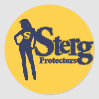 Sterg Protectors Classic Round Sticker