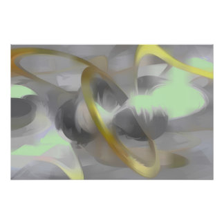 Sterling Desire Pastel Abstract Poster