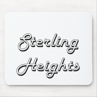 Sterling Heights Michigan Classic Retro Design Mouse Pad