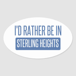 Sterling Heights Oval Sticker
