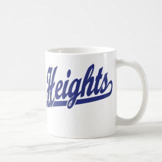 Sterling Heights script logo in blue Classic White Coffee Mug
