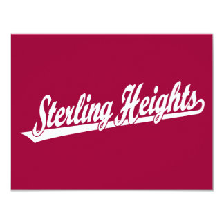 Sterling Heights script logo in white Card