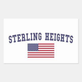 Sterling Heights US Flag Rectangular Sticker