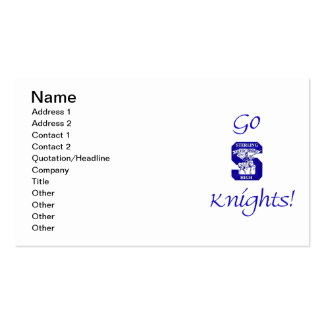 Sterling High Go Knights Logo I Business Card I