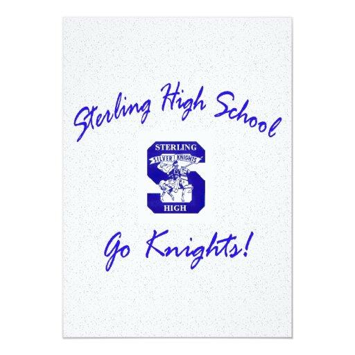 Sterling High Go Knights Logo I Invitation