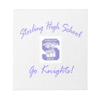 Sterling High Go Knights Logo I Notepad