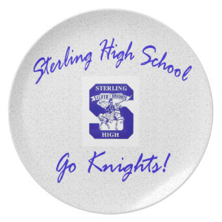 Sterling High Go Knights Logo I Plate