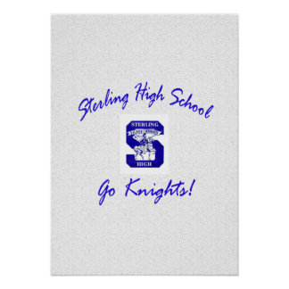 Sterling High Go Knights Logo I Poster