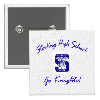 Sterling High Go Knights Logo I Square Button