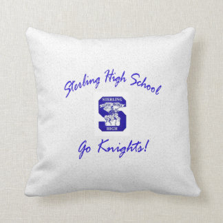 Sterling High Go Knights Logo I Throw Pillow