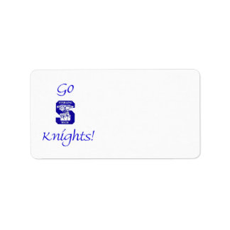 Sterling High Go Knights Logo II Label