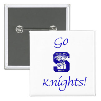 Sterling High Go Knights Logo II Square Button