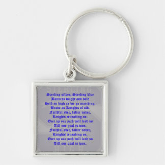 Sterling High Schol Alma Mater Premium Square Keyc Silver-Colored Square Keychain
