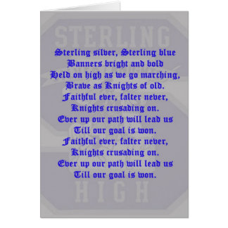 Sterling High School Alma Mater Card (Blank Interi