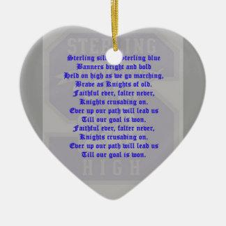 Sterling High School Alma Mater Heart Ornament