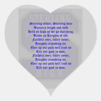 Sterling High School Alma Mater Heart Sticker