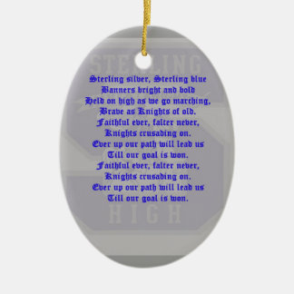 Sterling High School Alma Mater Oval Ornament