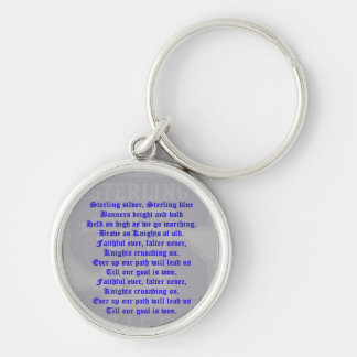 Sterling High School Alma Mater Premium Round Keyc Silver-Colored Round Keychain