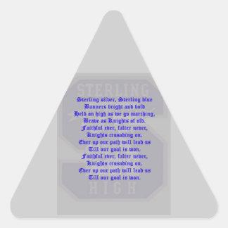 Sterling High School Alma Mater Triangle Sticker