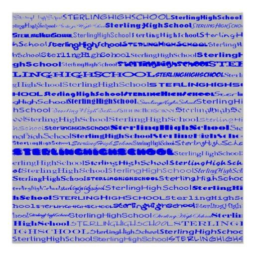 Sterling High School Text Design I Print