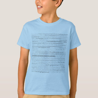 Sterling High School Text Design II Blue Shirt Kid