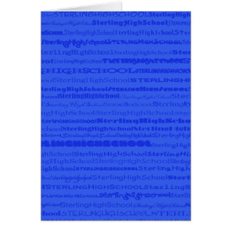 Sterling High School Text Design III GreetingCard Card