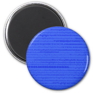 Sterling High School Text Design III Round Magnet