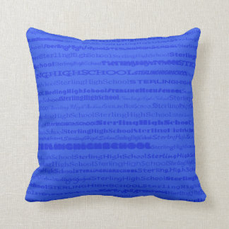 Sterling High School Text Design III Throw Pillow