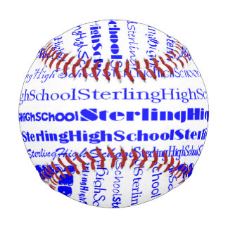 Sterling High School Text I Custom Baseball