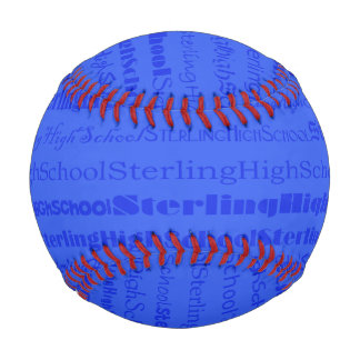 Sterling High School TextDsgn III Custom Baseball