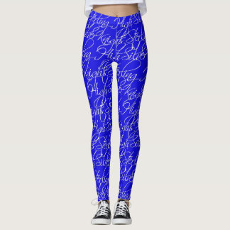 Sterling High Script Text Design I Leggings