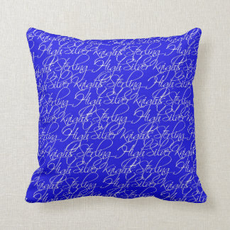 Sterling High Script Text Design I Throw Pillow