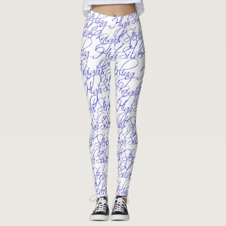 Sterling High Script Text Design II Leggings