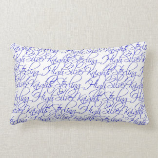 Sterling High Script Text Design II Lumbar Pillow