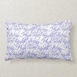 Sterling High Script Text Design II Lumbar Pillow