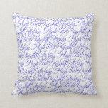Sterling High Script Text Design II Throw Pillow