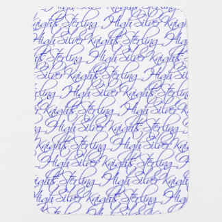 Sterling High Script Text II Baby Blanket