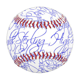 Sterling High Script TextDesign II Custom Baseball
