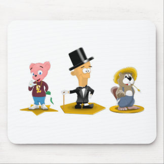 Sterling Man, Richy Bear, Busted Beaver Mouse Pad